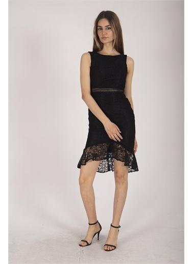 Belamore  Siyah Dantel Balık Abiye & Mezuniyet Elbisesi 1608232.01 Siyah
